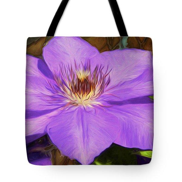 Lavender Clematis Art Tote Bag