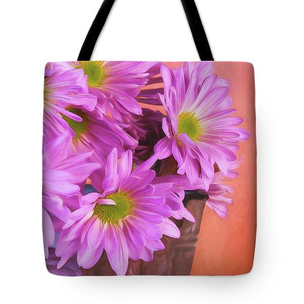 Lavender Daisies Tote Bag