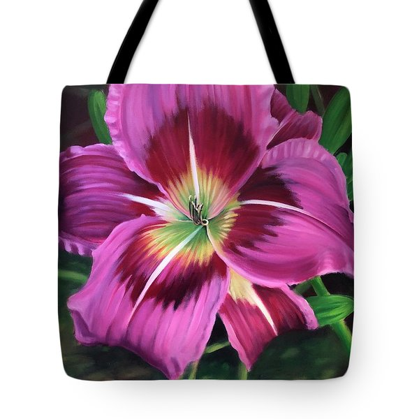 Lavender Daylily Tote Bag