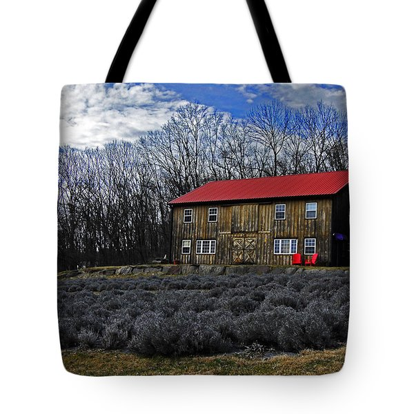 Lavender Farm Tote Bag