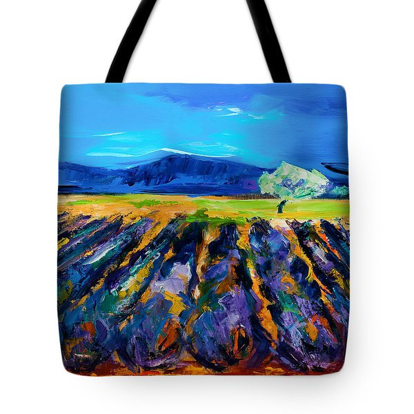 Lavender Field Tote Bag