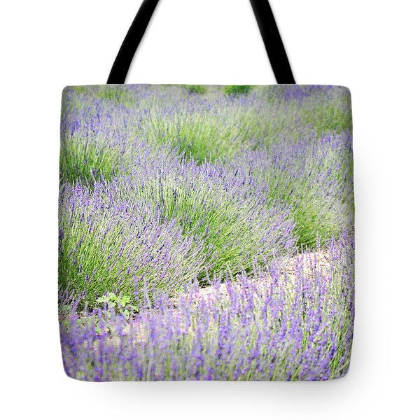 Lavender Field Farm Landscape Tote Bag by Andrea Hazel Ihlefeld