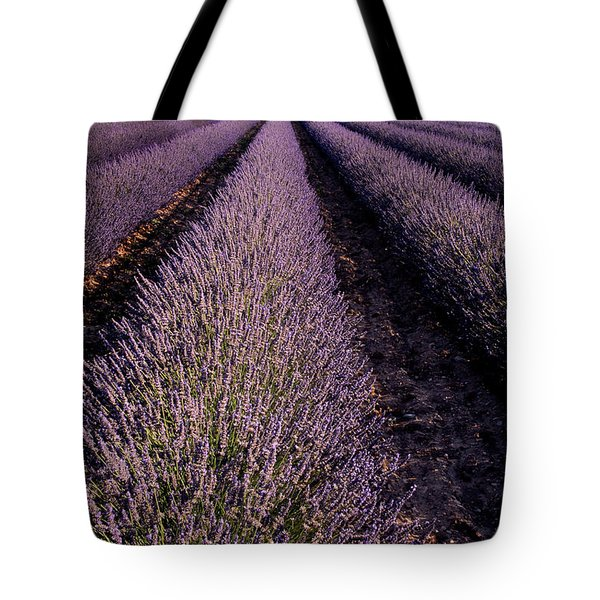 Lavender Field Provence France Tote Bag