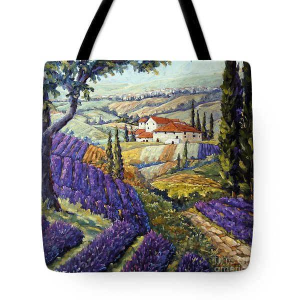 Lavender Fields Tuscan By Prankearts Fine Arts Tote Bag