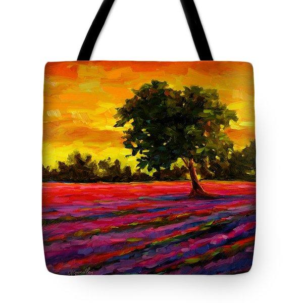 Lavender Fire Tote Bag