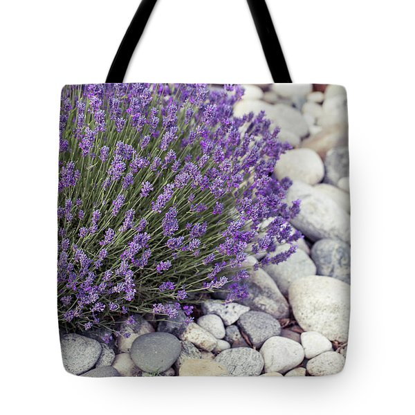 Lavender Flower In The Garden,park,backyard,meadow Blossom In Th Tote Bag