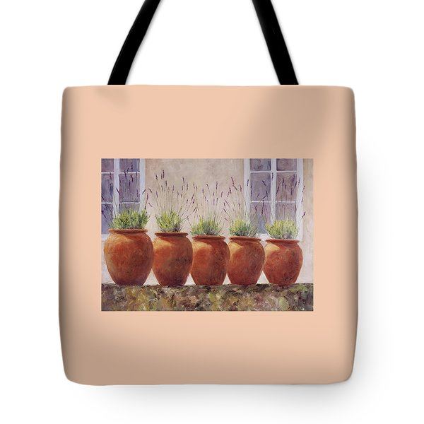 Lavender Garden Tote Bag by Jill Musser
