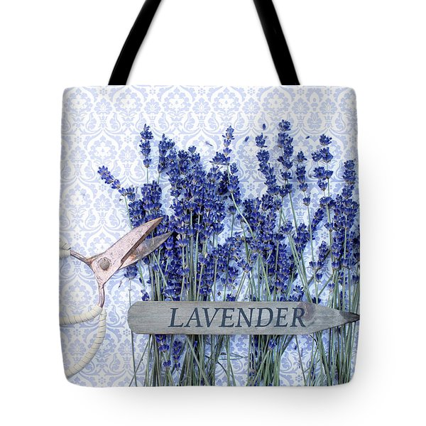 Tote Bag featuring the photograph Lavender Garden by Rebecca Cozart
