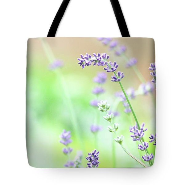 Tote Bag featuring the photograph Lavender Garden by Trina Ansel