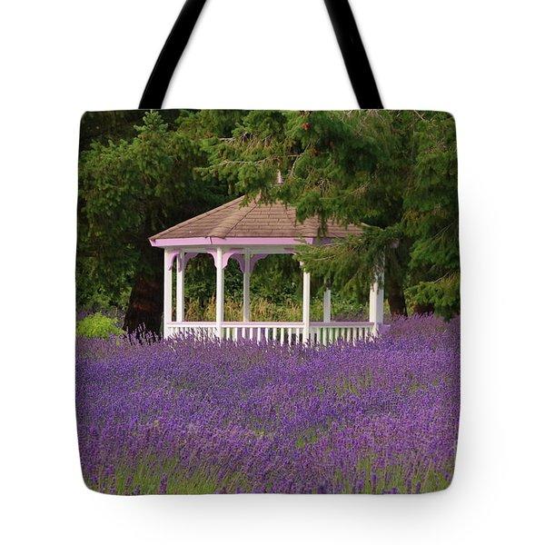 Lavender Gazebo Tote Bag