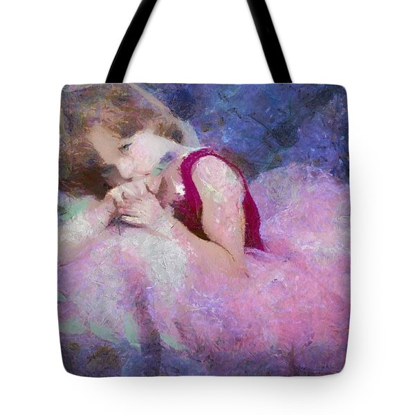 Lavender Girl Tote Bag