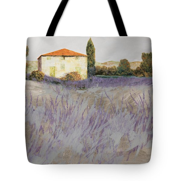 Tote Bag featuring the painting Lavender by Guido Borelli