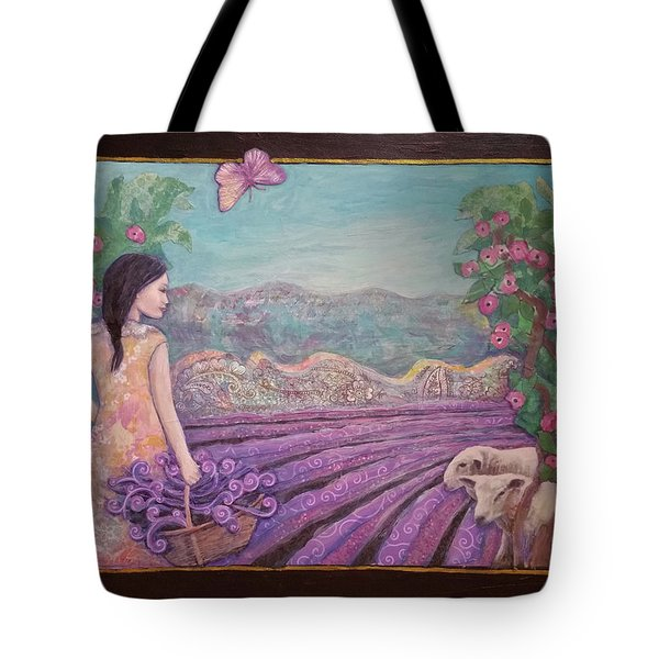 Lavender Harvest With Friends Tote Bag