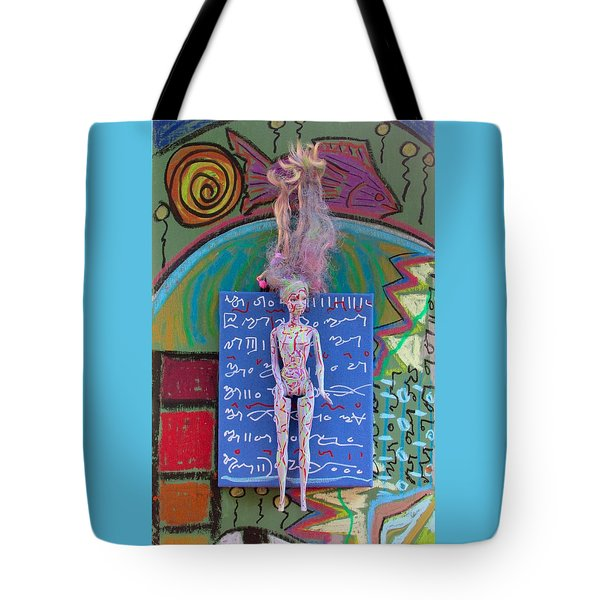 Tote Bag featuring the painting Lavender Herbal Tincture by Clarity Artists