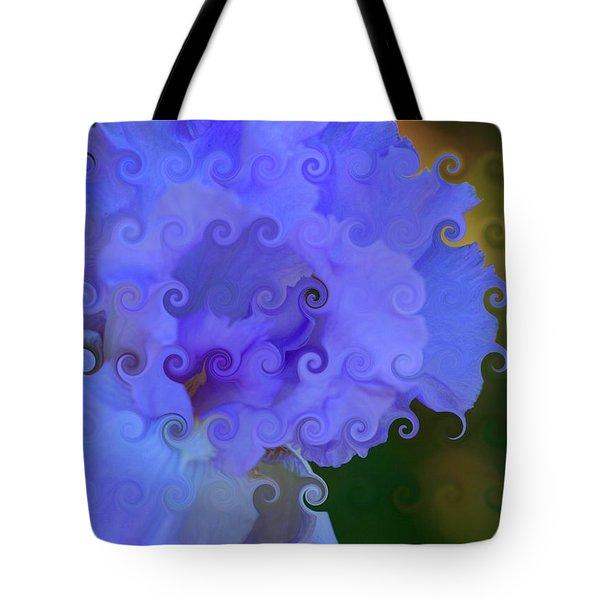 Lavender Curlicue Iris  Tote Bag