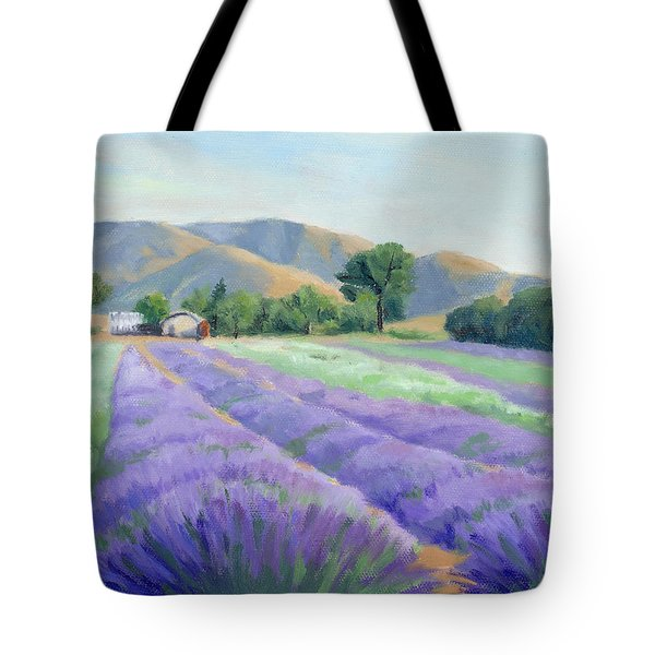 Lavender Lines Tote Bag by Sandy Fisher