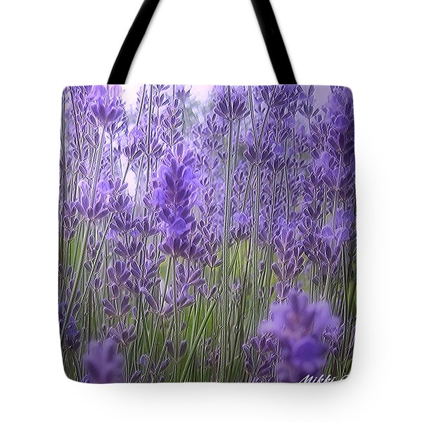 Lavender Tote Bag by Mikki Cucuzzo