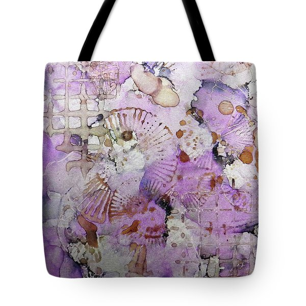 Tote Bag featuring the painting Lavender Mornings Ink #6 by Sarajane Helm