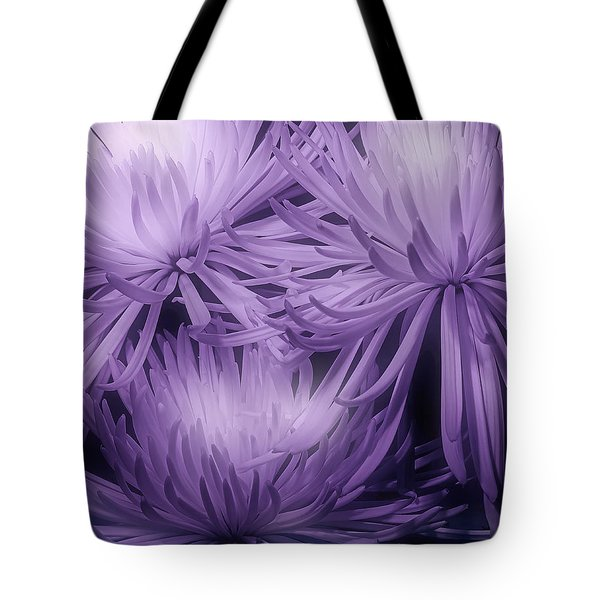 Lavender Mums Tote Bag by Tom Mc Nemar