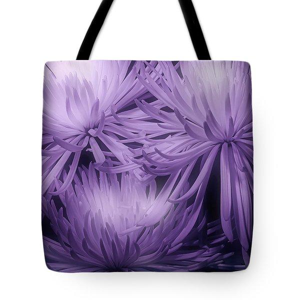 Lavender Mums Tote Bag