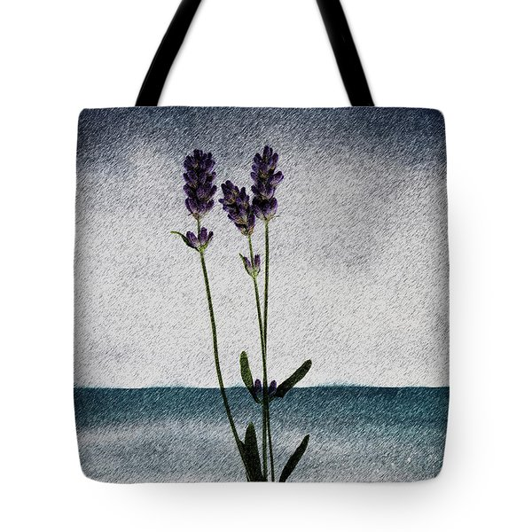 Lavender Ocean Breath Tote Bag