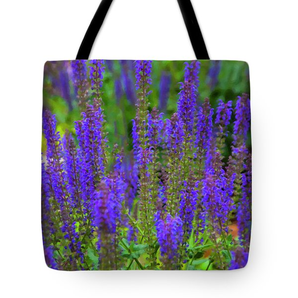 Tote Bag featuring the digital art Lavender Patch by Chris Flees