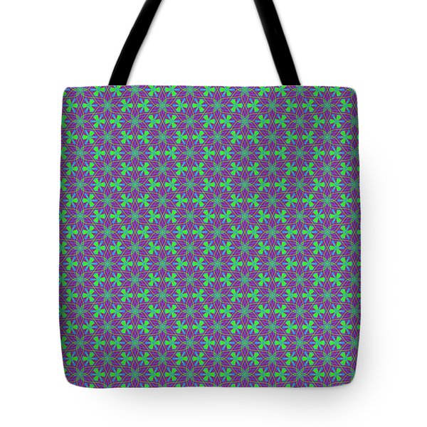 Tote Bag featuring the digital art Lavender Pinwheels by Becky Herrera