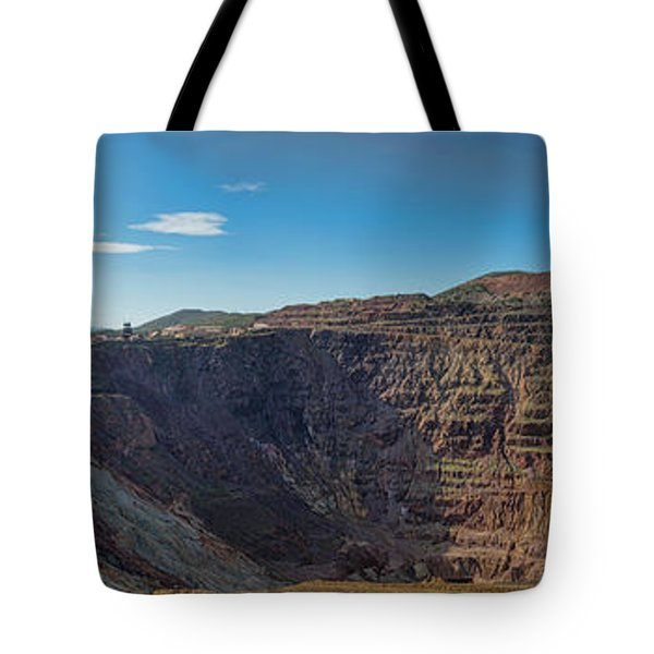 Tote Bag featuring the photograph Lavender Pit Mine by Dan McManus