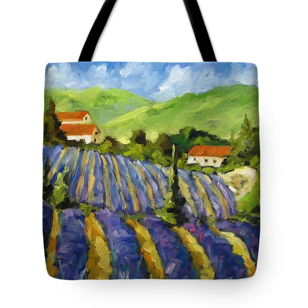 Lavender Scene Tote Bag by Richard T Pranke
