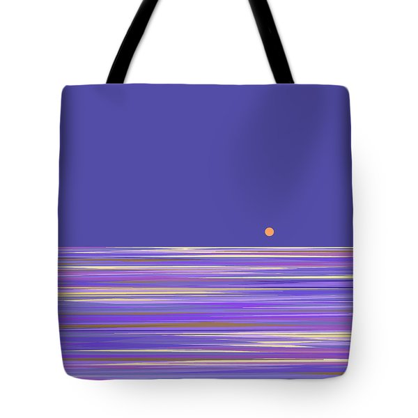 Tote Bag featuring the digital art Lavender Sea by Val Arie