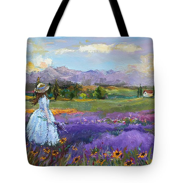 Tote Bag featuring the painting Lavender Splendor  by Jennifer Beaudet