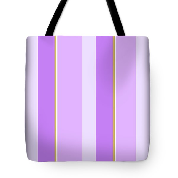 Tote Bag featuring the mixed media Lavender Stripe Pattern by Christina Rollo