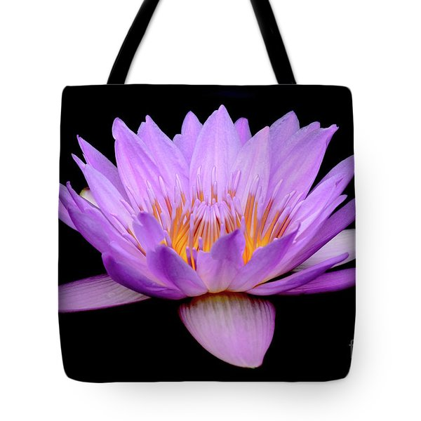 Lavender Tropical Day Lily Tote Bag