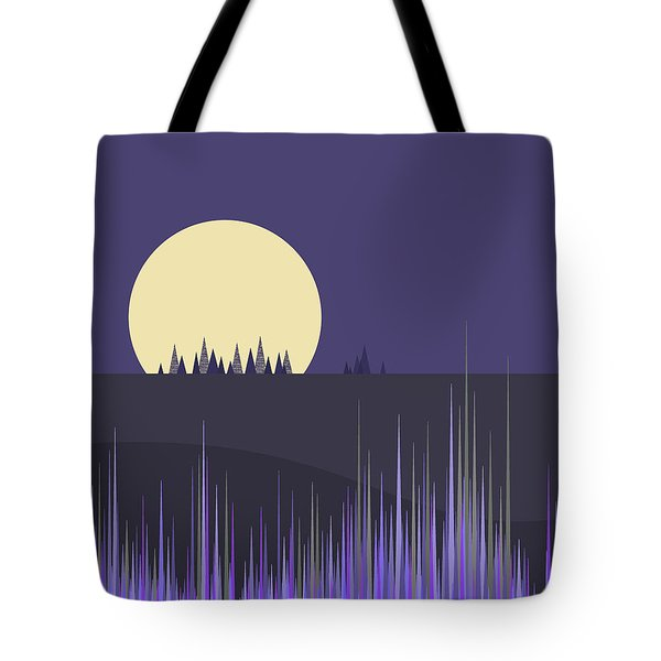 Tote Bag featuring the digital art Lavender Twilight by Val Arie