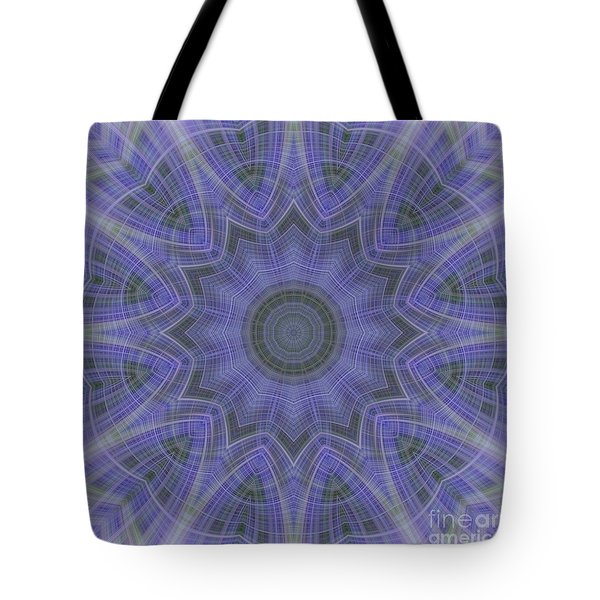 Tote Bag featuring the photograph Lavender Twirl Kaleido by Elaine Teague