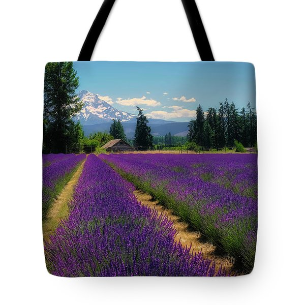 Lavender Valley Farm Tote Bag