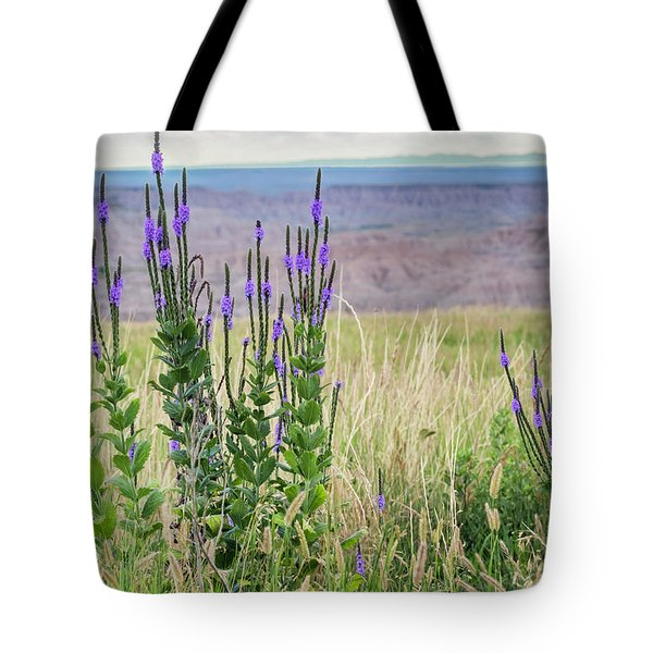 Lavender Verbena And Hills Tote Bag