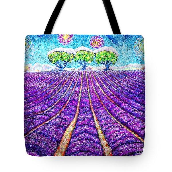 Lavender Tote Bag by Viktor Lazarev