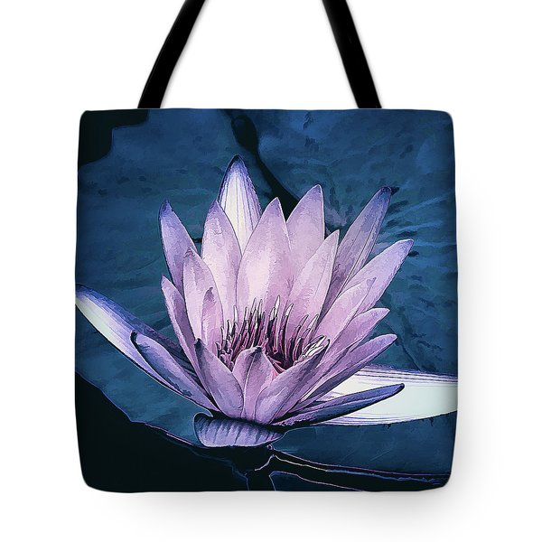Tote Bag featuring the photograph Lavender Water Lily  by Julie Palencia