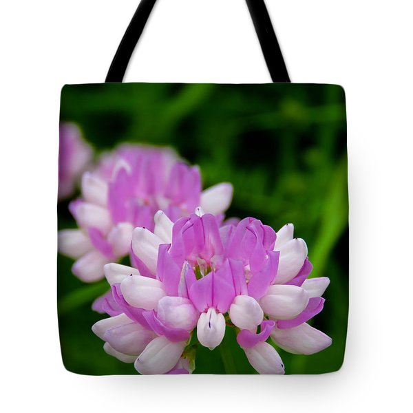 Lavender White Tote Bag