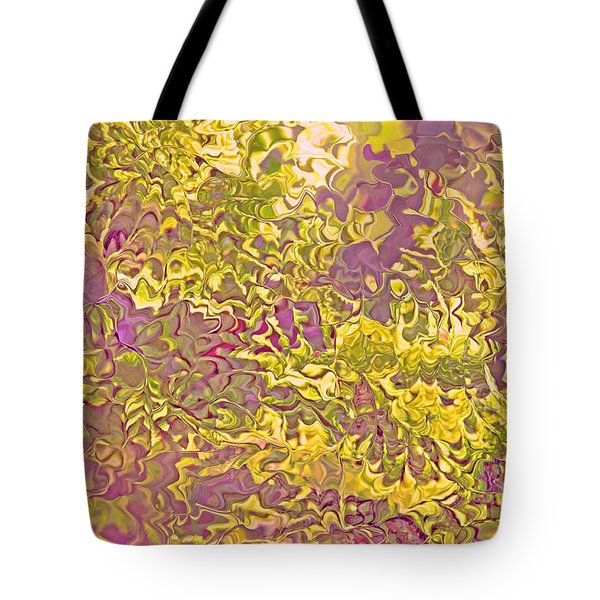 Lavender Yellow Abstract Tote Bag