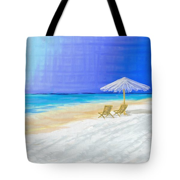 Lawn Chairs In Paradise Tote Bag