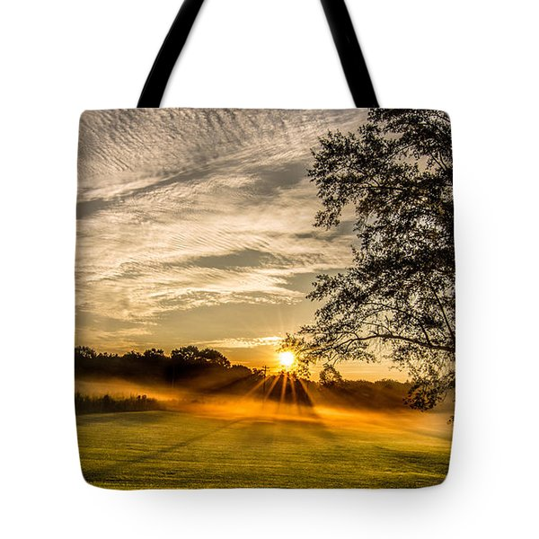 Lawn Sunrise Tote Bag