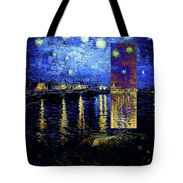 Layered 15 Van Gogh Tote Bag