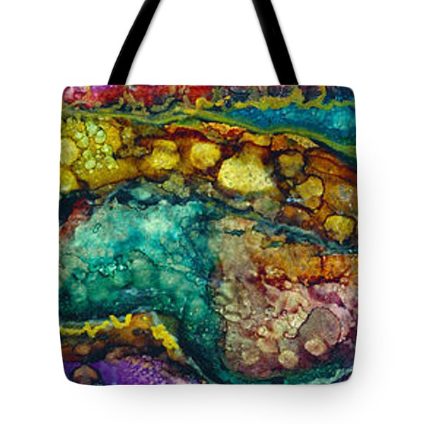 Layered Earth Tote Bag by Alene Sirott-Cope