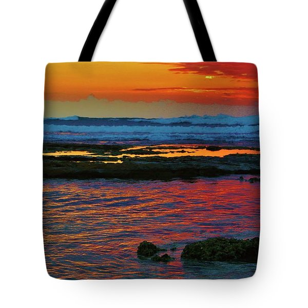 Layered Sunset Tote Bag