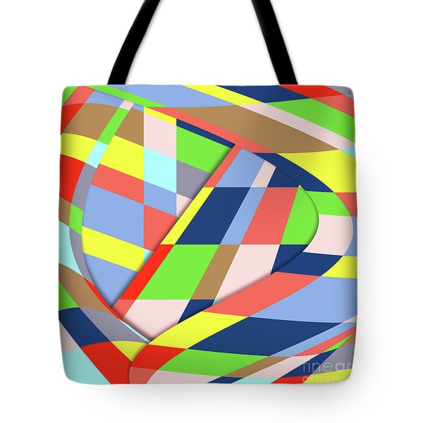 Tote Bag featuring the digital art Layers 1 by Bruce Stanfield