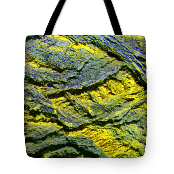 Tote Bag featuring the photograph Layers In Blue And Yellow by Lenore Senior