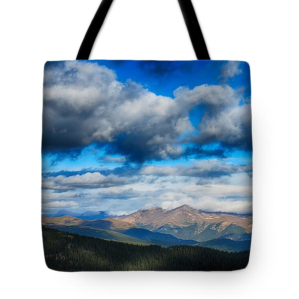 Layers Of Clouds On Mount Evans Tote Bag