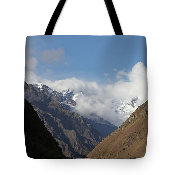 Layers Of Mountains Tote Bag